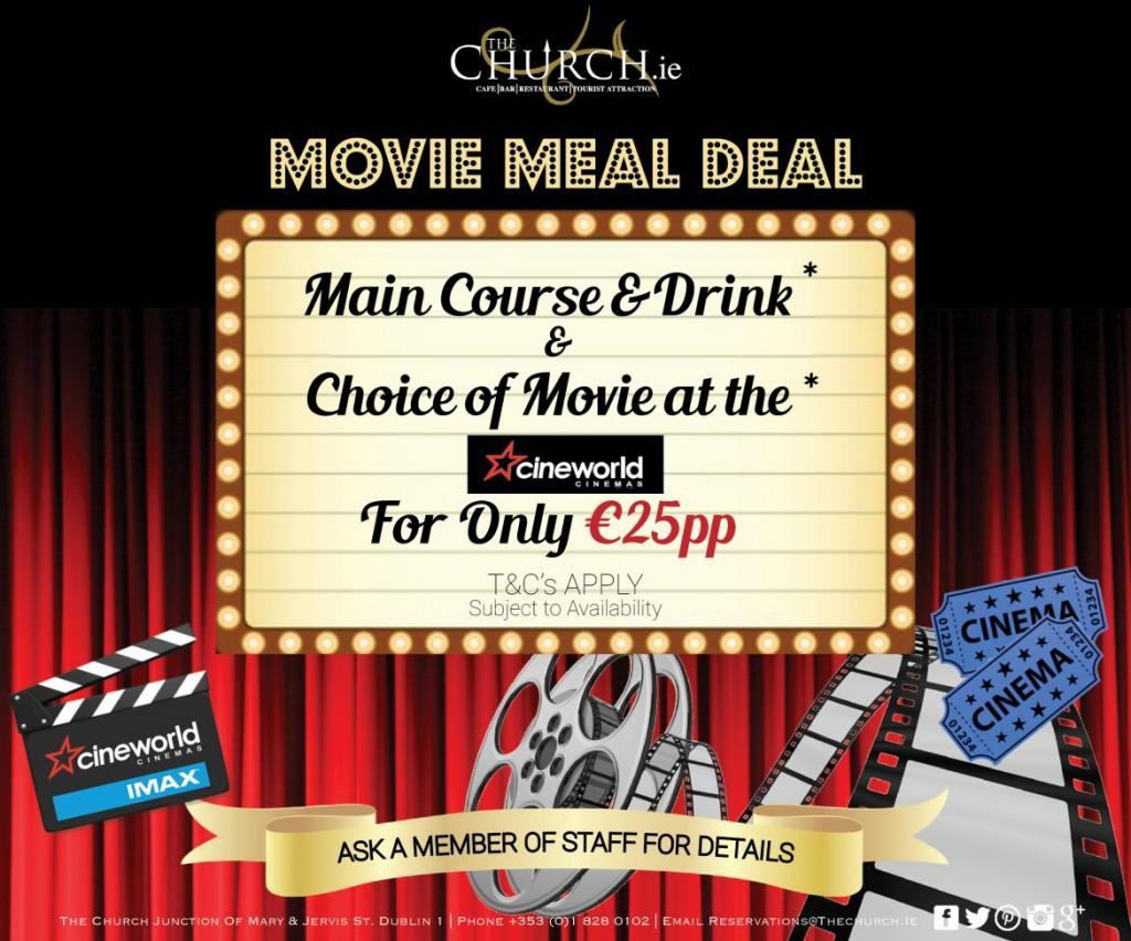 Main Course and Drink with Choice of Movie at Cineworld Parnell Street For Only 25ppn