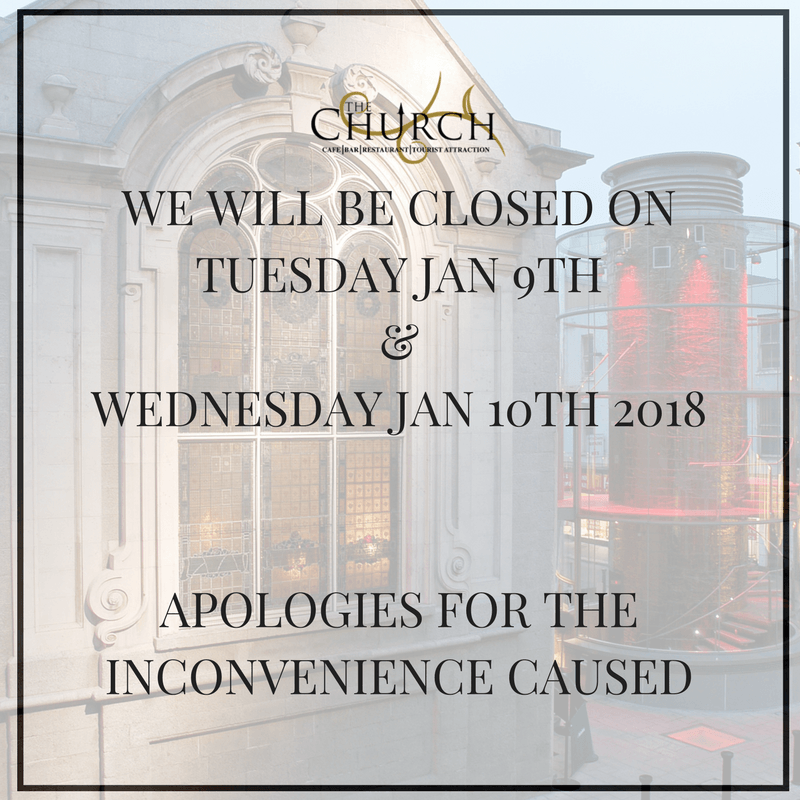 Closed January 9th & 10th