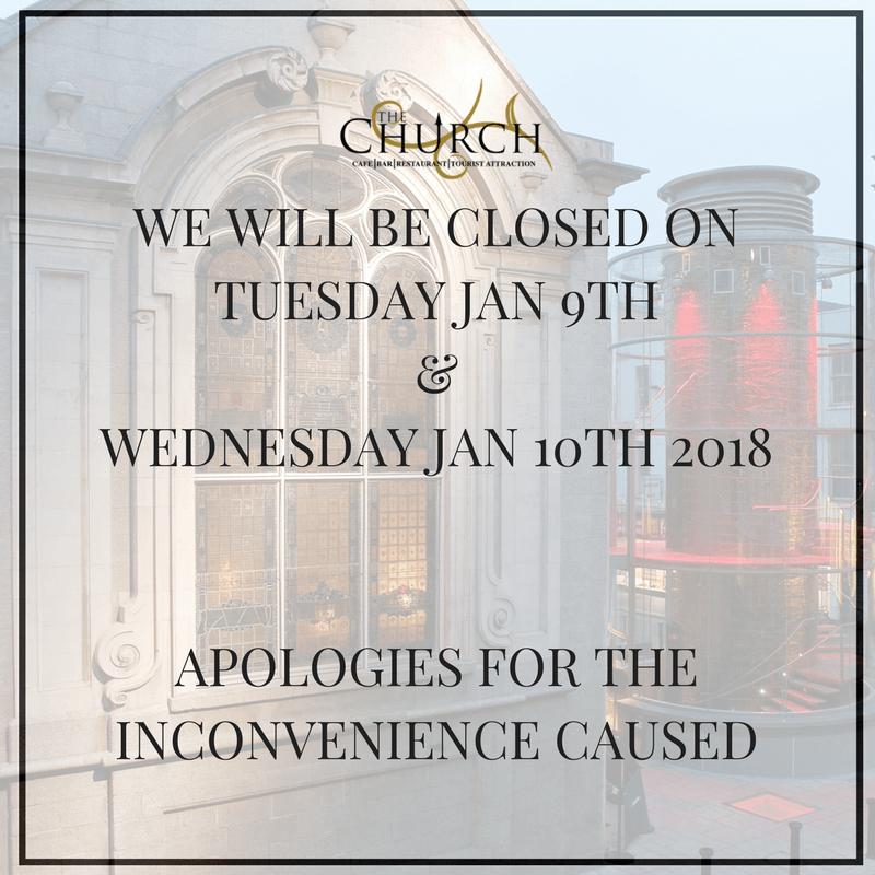 Closed January 9th & 10th